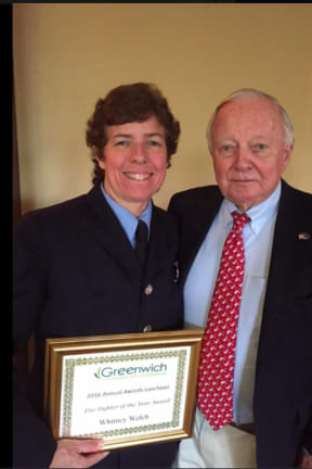 Chamber Of Commerce Honors Greenwich Woman As Firefighter Of The Year