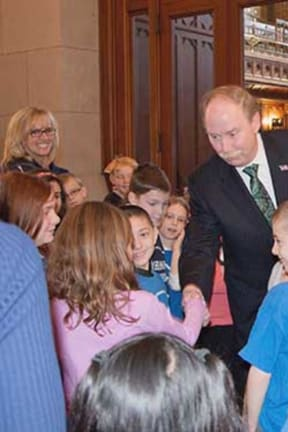 Danbury Sen. McLachlan Greets Sherman Students In Visit To Capitol