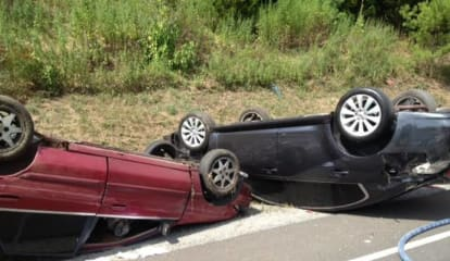 Two Sent To Hospital After Double Rollover On Merritt Parkway In Fairfield