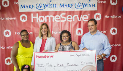 Norwalk's HomeServe Donates $23,000 To Make-A-Wish Connecticut