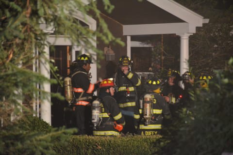 Chappaqua, Millwood Firefighters Respond To Armonk Garage Fire