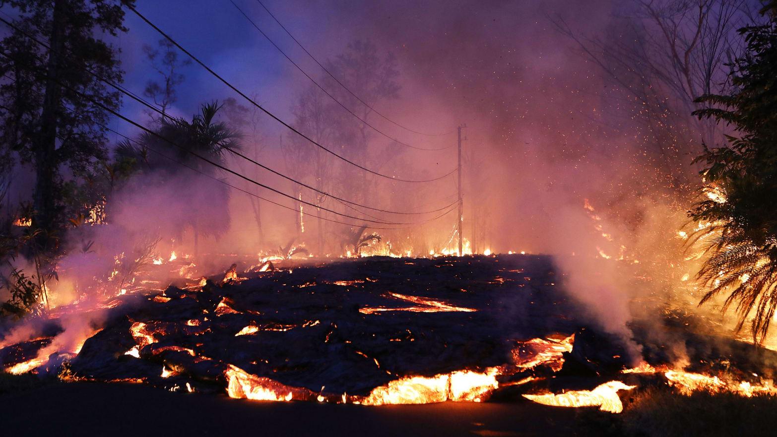photo of mount kilauea exploding lava mount mt mauna kilauea hawaii volcano explosion lava geothermal pgv