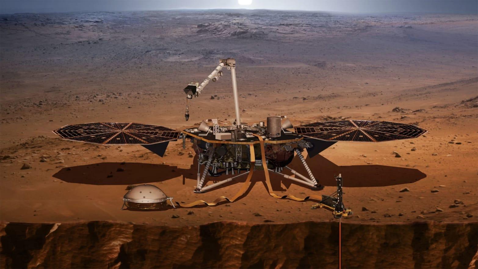 mars insight probe landing seismometer marsquake