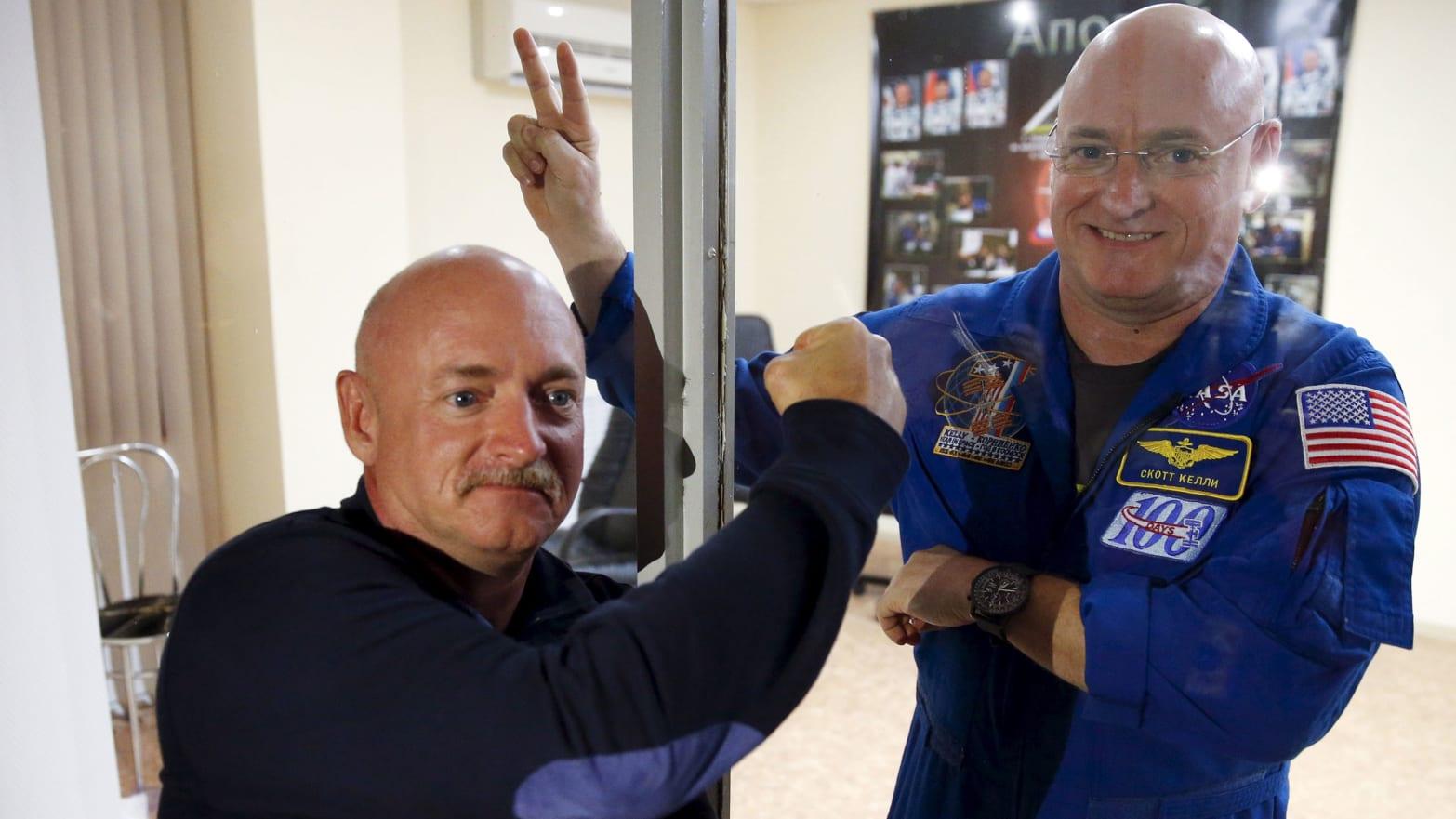 mark and scott kelly twin study nasa francine garrett-bakelman university of virginia cornell blood telomeres telomere lengthening aging cancer