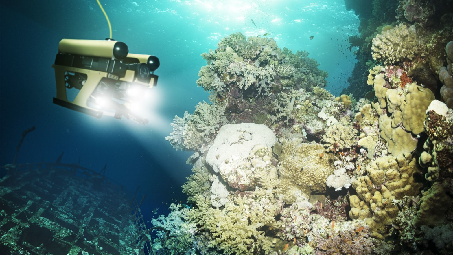 photo of subsea autonomous underwater robot shell xprize coral reef auv aus map world ocean underwater