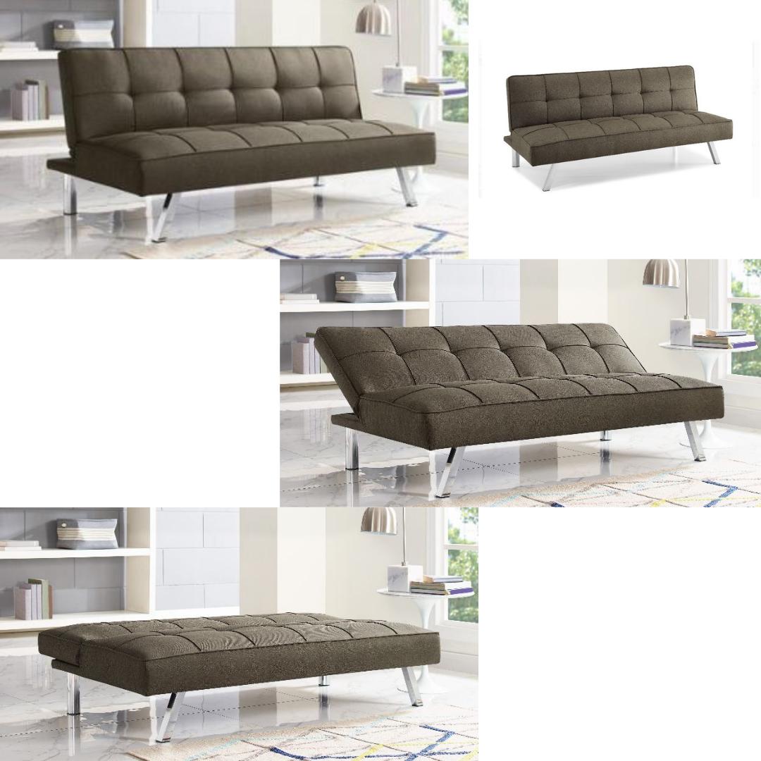 Details About Futon Sofa Bed Queen Size For Apartment Apt Couch Convertible Best Klik Klak Rv
