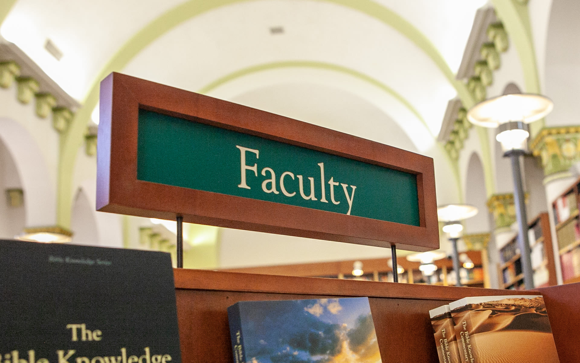 faculty bookstore sign