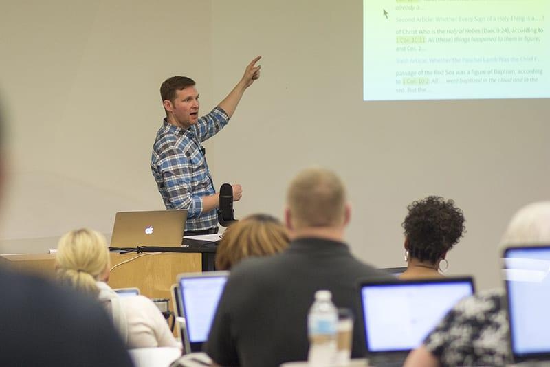 Chris McMaster teaching
