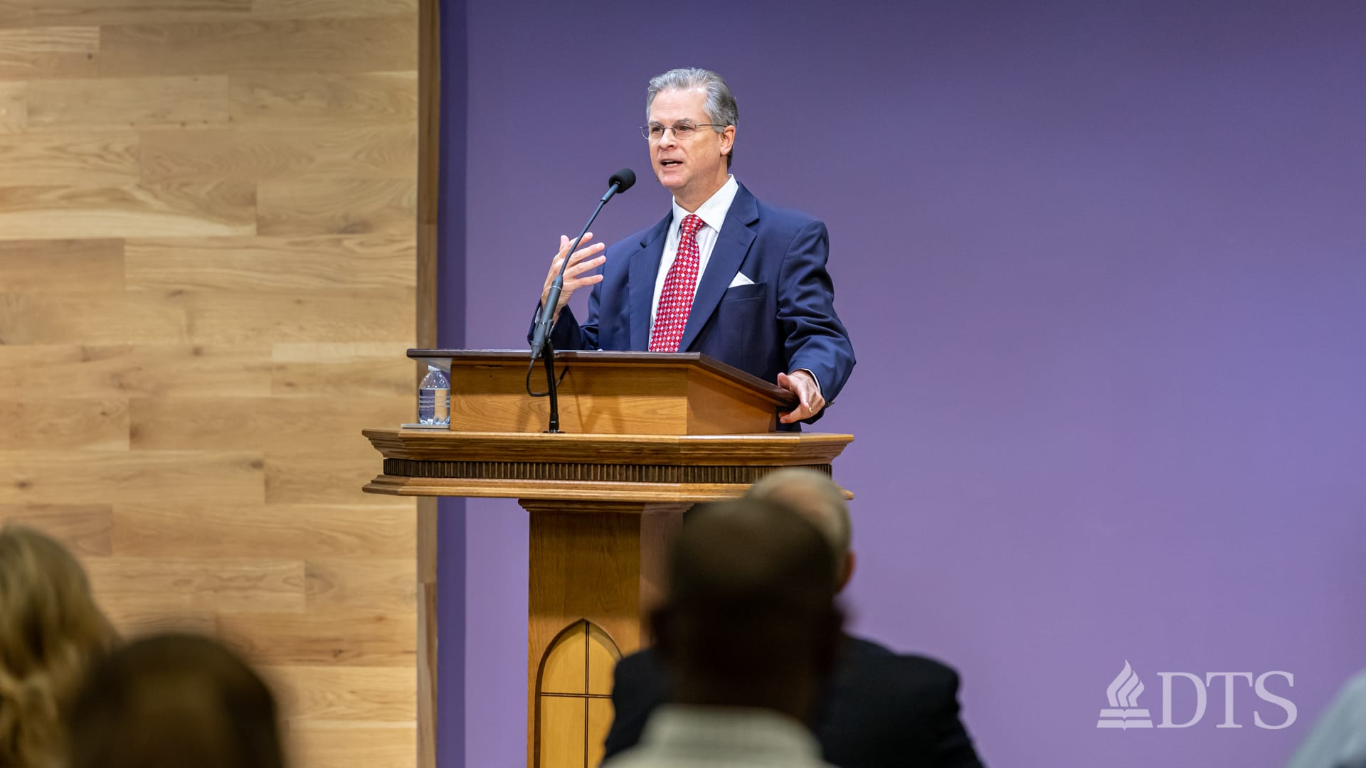Soctt Talbot, executive director of Dallas Seminary Foundation, in chapel