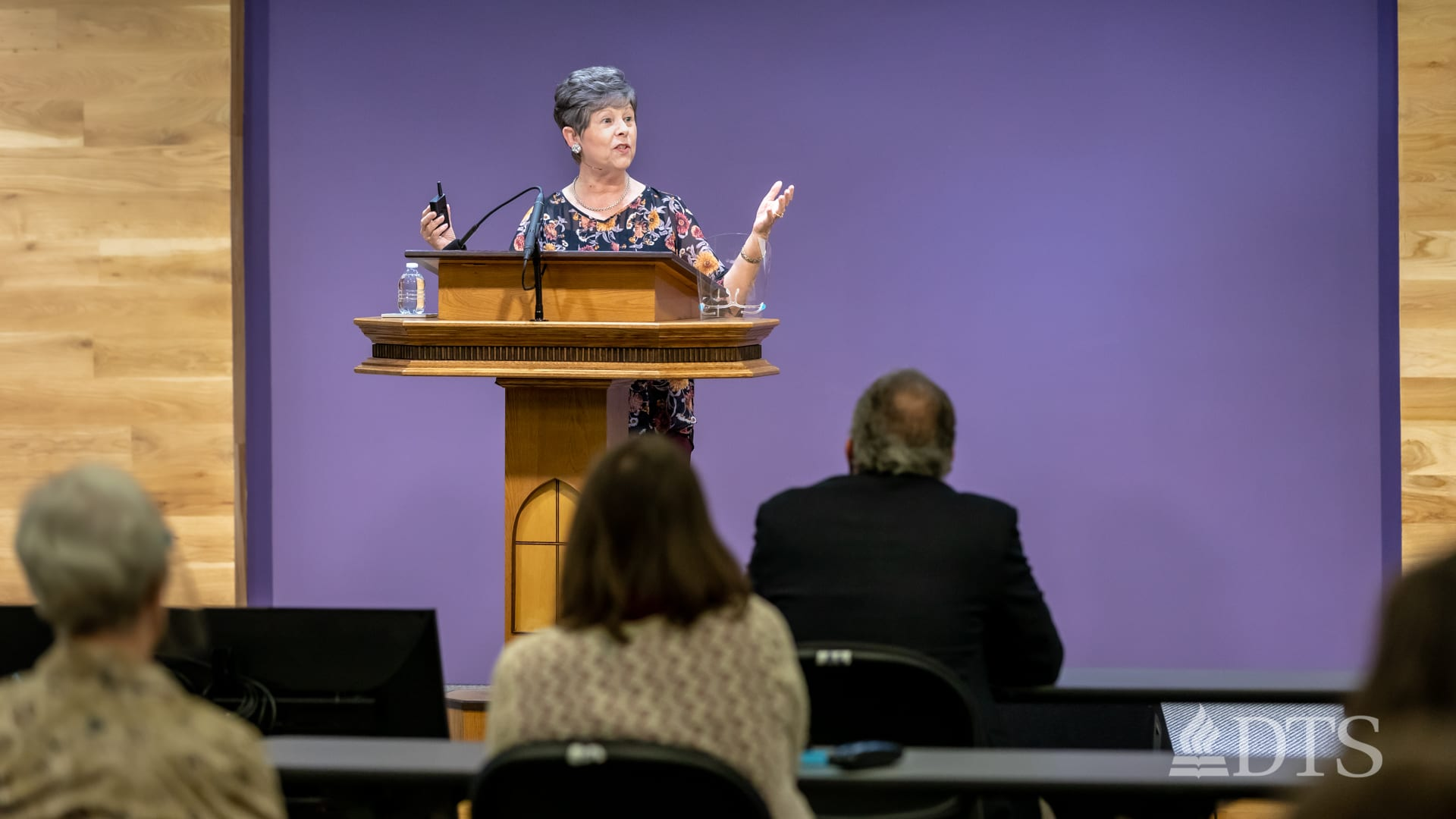Dr. Sue Edwards in chapel at DTS