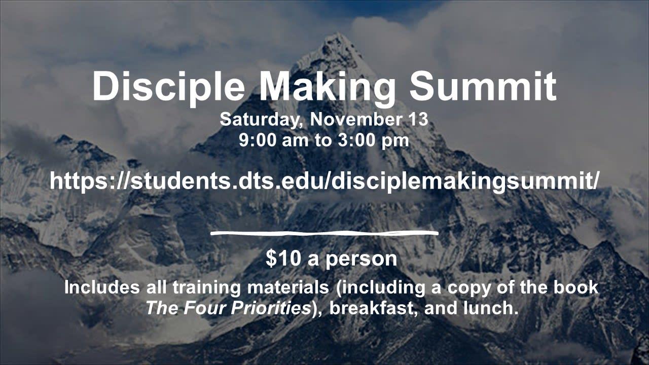 2021.11.13 Discipleship Summit