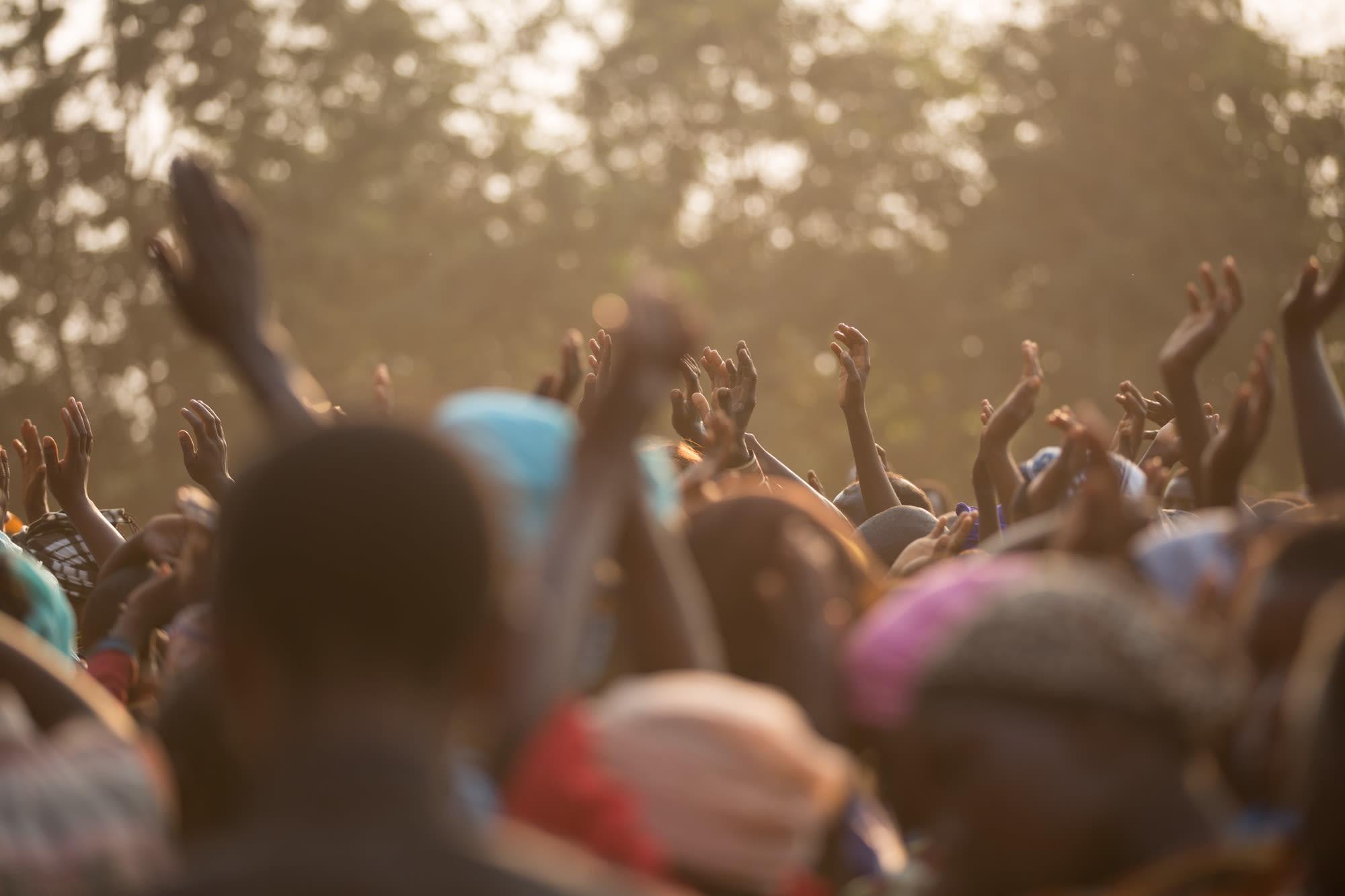 image of people worshiping