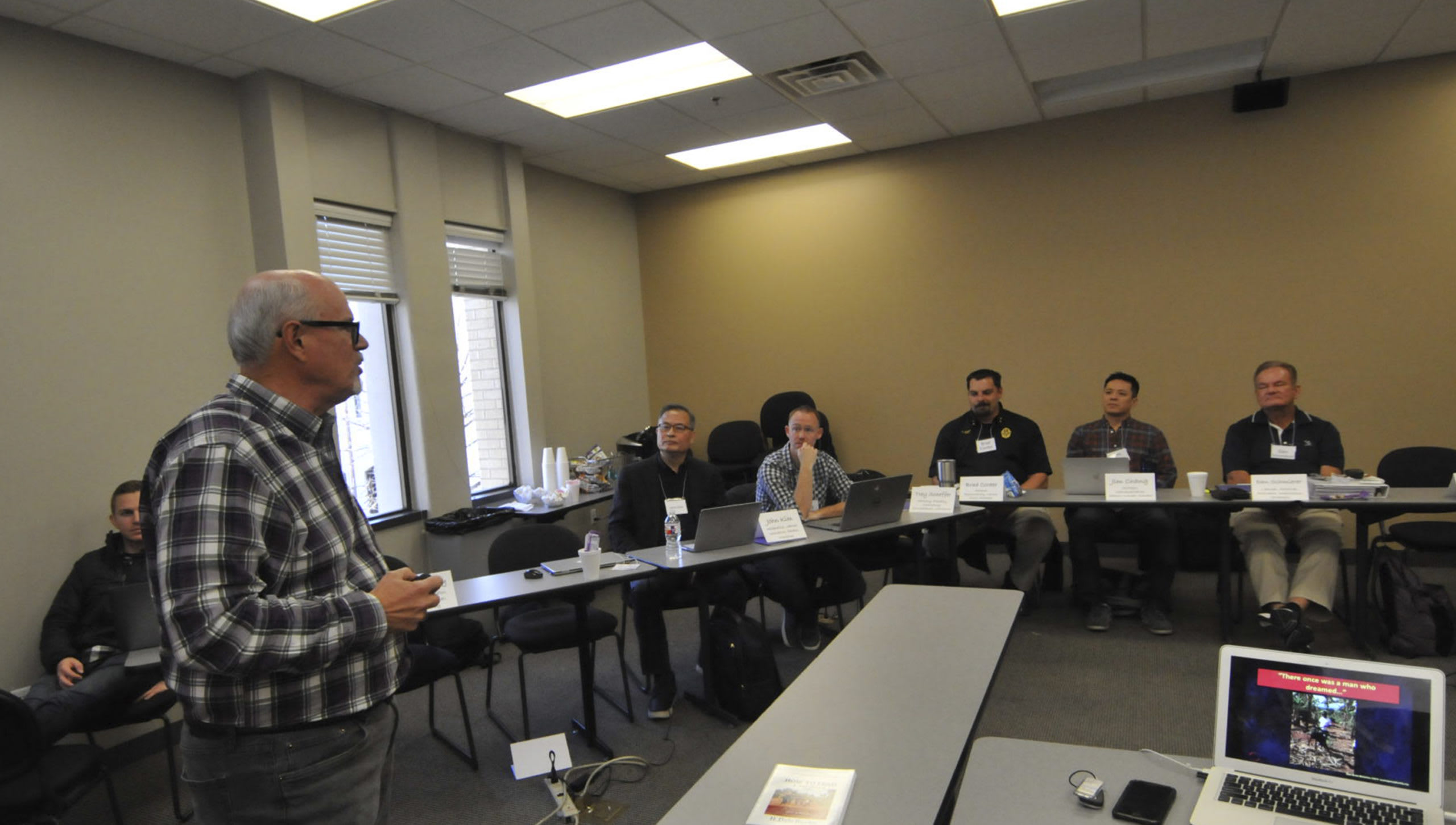 Dr. Burk teaching a class