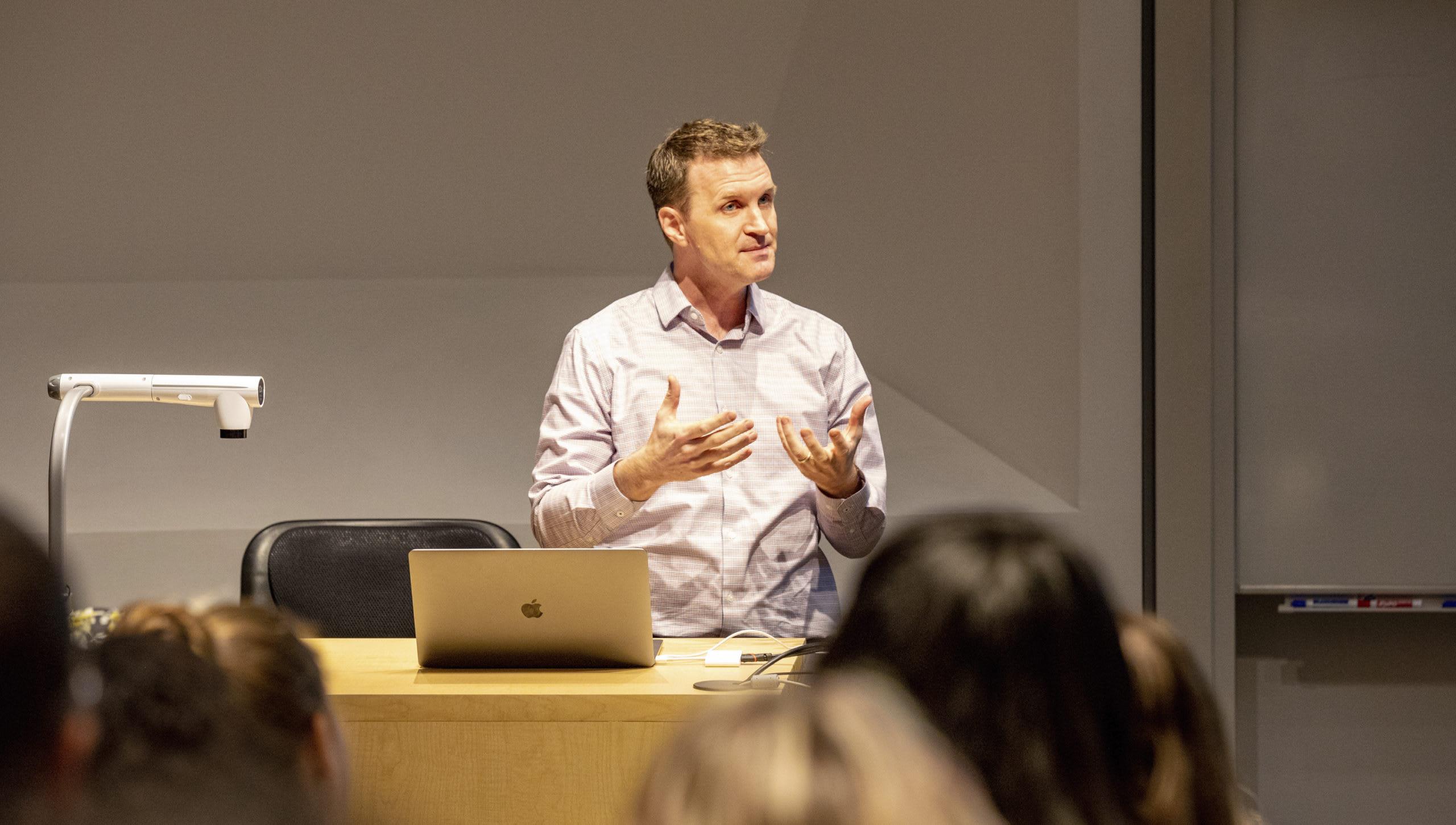 John Dyer teaching a class