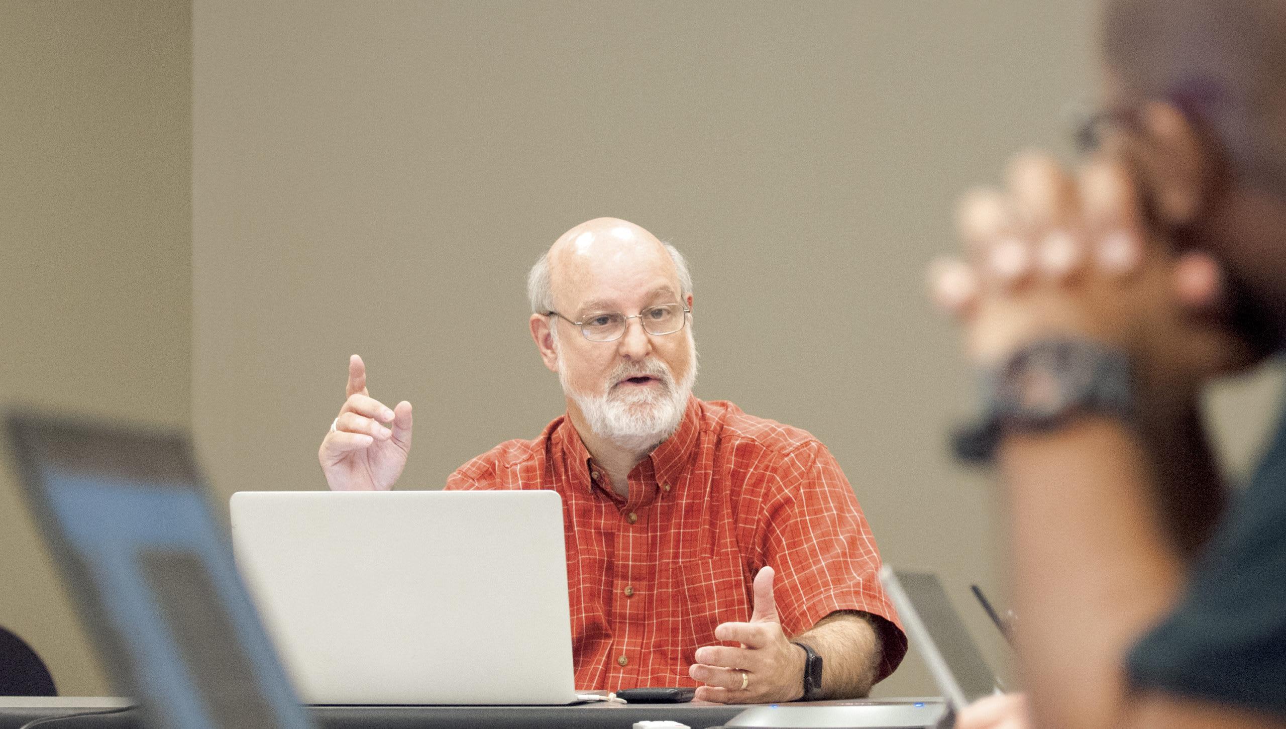 Dr Bock teaching a class
