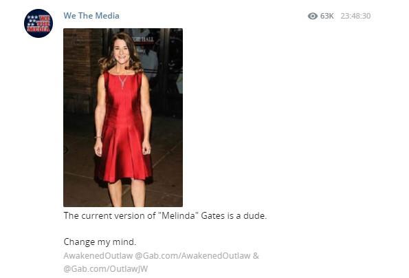 Конспирологи «сменили пол» Мелинде Гейтс из-за развода с Биллом