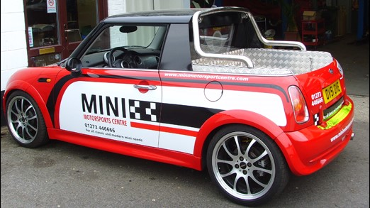 The oldest MINI Cooper S which isn't actually an R53 but a pickup