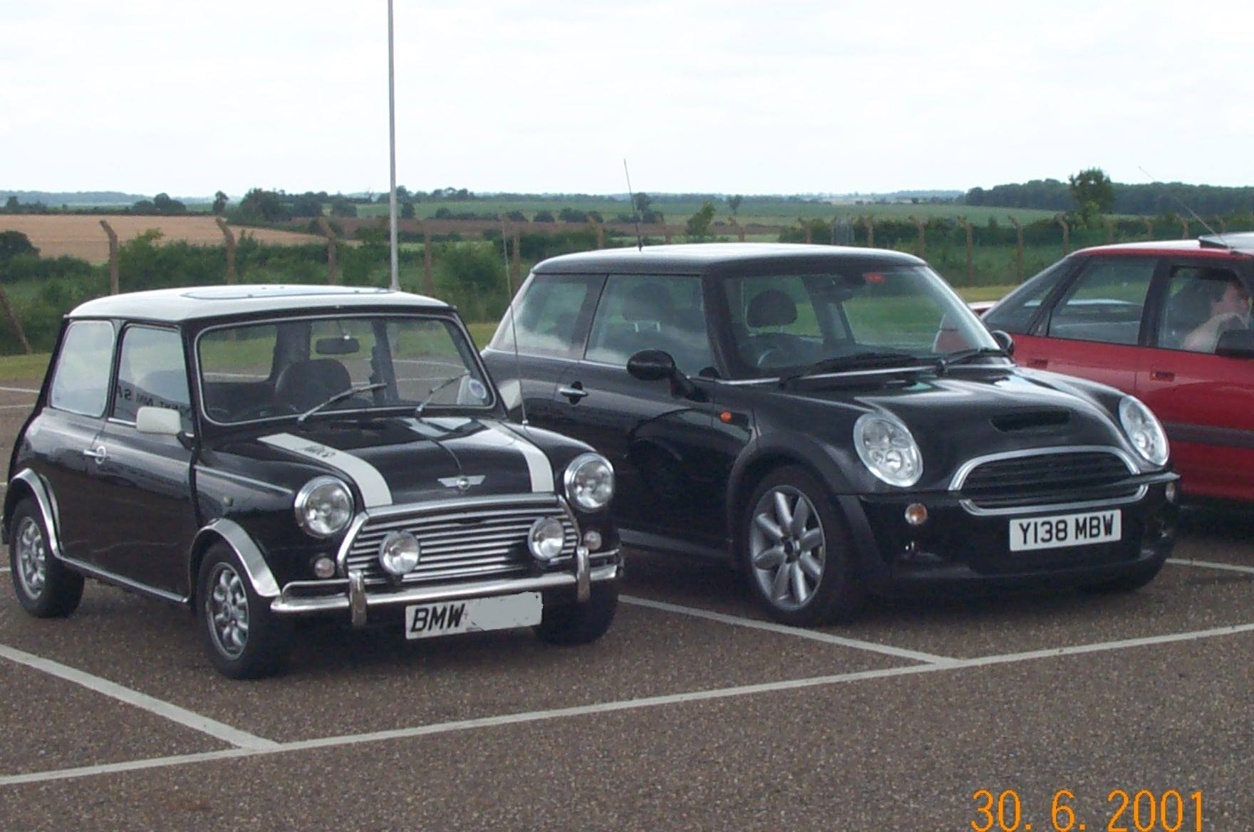Early MINI Cooper S R53 Prototype registered on a Y plate