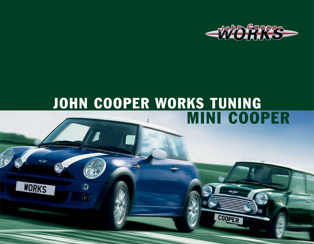 MINI Cooper JCW Tuning Kit Brochure Front Cover