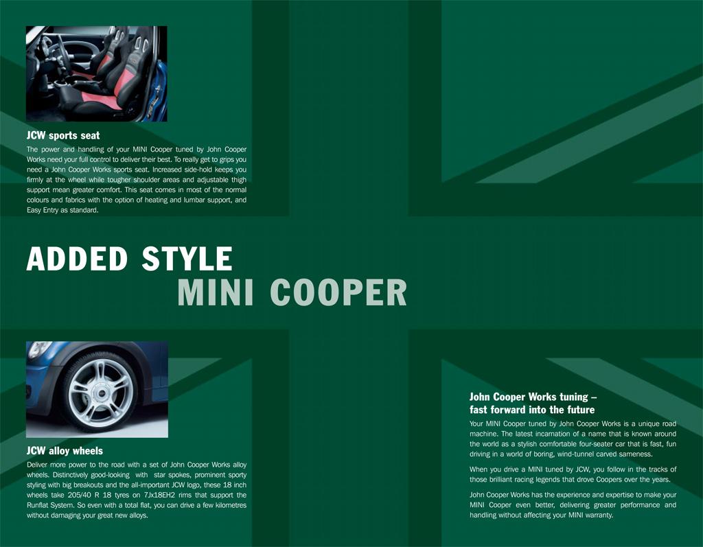 MINI Cooper JCW Tuning Kit Brochure Seats and Wheels