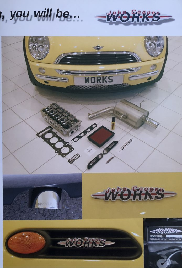 Yellow MINI Cooper Works believed to by number 9 conversion