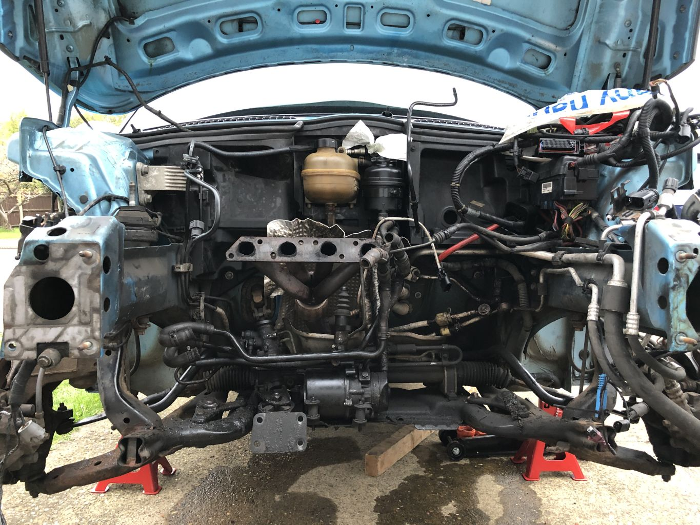 MINI Cooper S R53 Engine removed from car