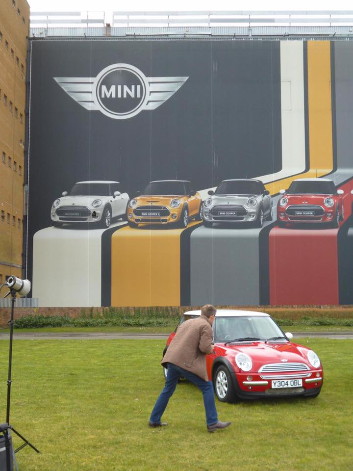 2001 Y Reg MINIs being photographed in 2014 to celebrate 15 years of MINI