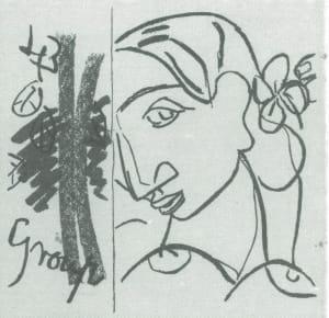 Grey scale artistic portrait of a woman