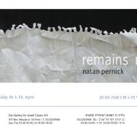 Remains | שרידים - Art Exhibition in Dan Gallery