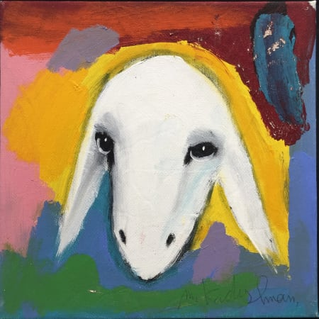 Yellow Sheep by MENASHE KADISHMAN [2000]