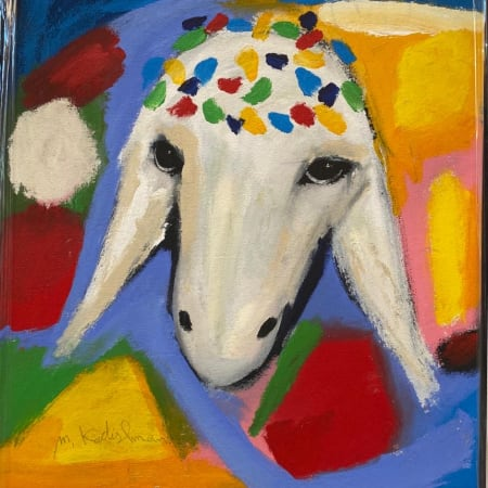 White Blue Sheep by MENASHE KADISHMAN [2000]