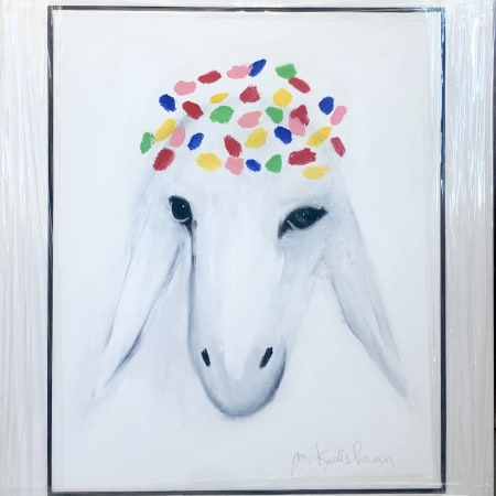 Medium White Sheep by MENASHE KADISHMAN [2000]