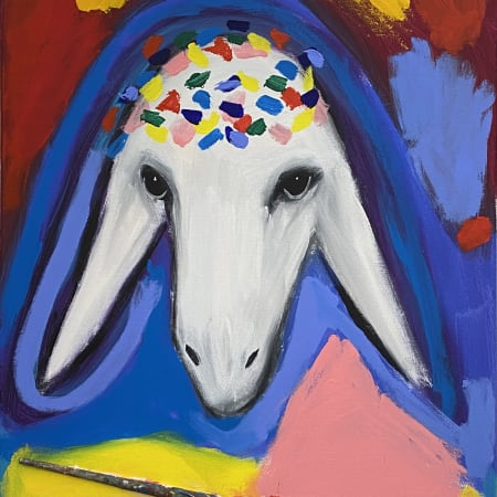 Paintbrush Sheep by MENASHE KADISHMAN [1990]