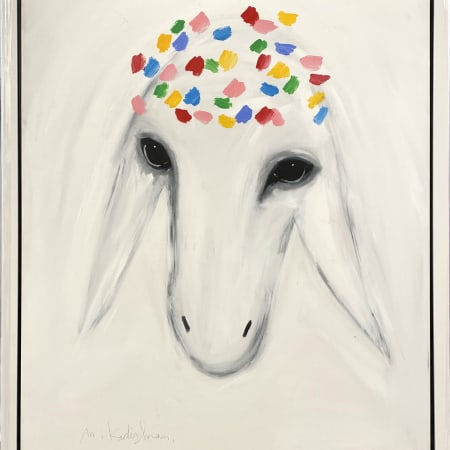 Big White Sheep by MENASHE KADISHMAN [1990]