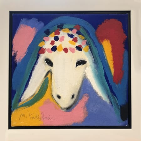 Birthday Sheep by MENASHE KADISHMAN [1990]
