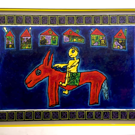 Big Red Donkey by MEIR PICHHADZE  [1990]