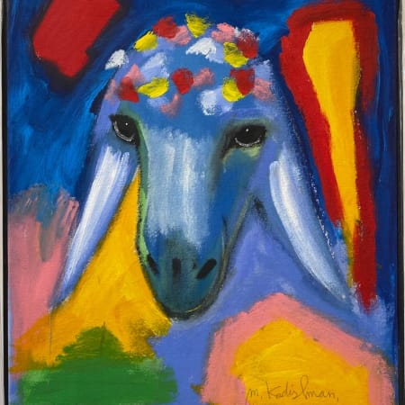 Blue Yellow Sheep by MENASHE KADISHMAN [2000]