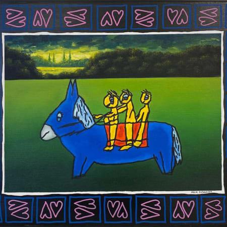 Blue Donkey by MEIR PICHHADZE  [1990]