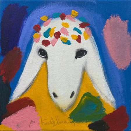Small Birthday Sheep by MENASHE KADISHMAN [2000]