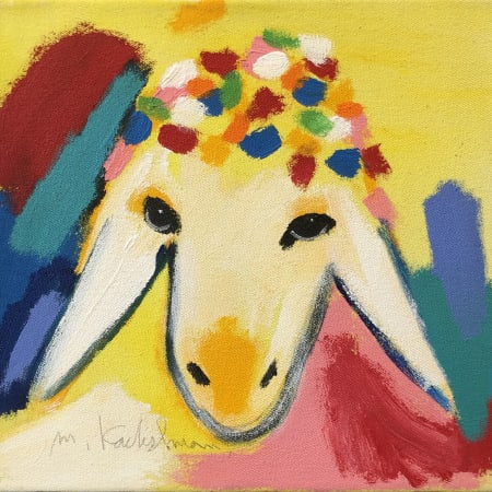 Small Yellow Sheep by MENASHE KADISHMAN [2000]
