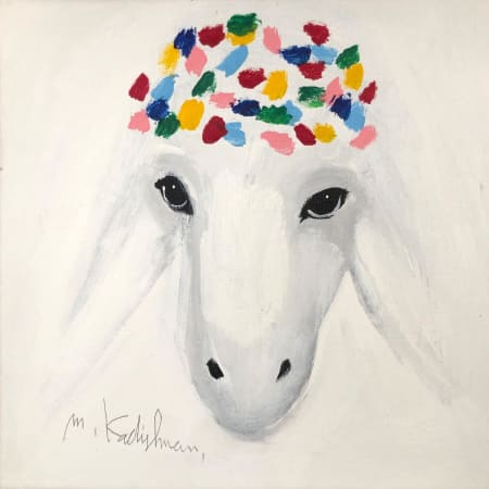 Snowy Sheep by MENASHE KADISHMAN [2000]