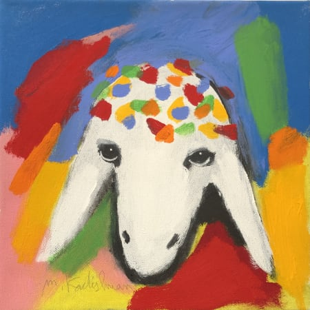 Blue Small Sheep by MENASHE KADISHMAN [1990]