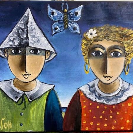 Couple by Yosl Bergner [1990]