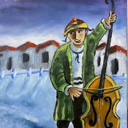 Berl Bass by Yosl Bergner [1990]