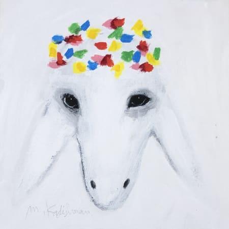 Snowy Sheep by MENASHE KADISHMAN [2000]