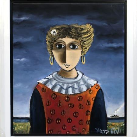 Flower Girl by Yosl Bergner [1990]
