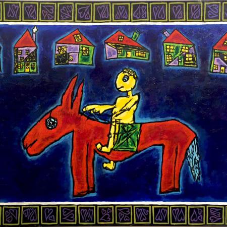 Big Red Donkey by MEIR PICHHADZE  [1990]