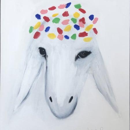 Medium White Sheep by MENASHE KADISHMAN [2000]