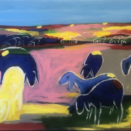 In the meadow by MENASHE KADISHMAN [1990]