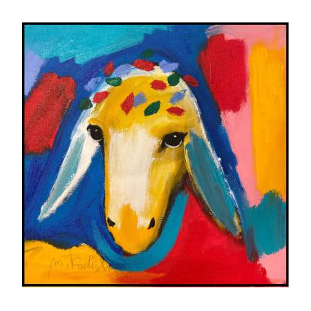 Orange Sheep by MENASHE KADISHMAN [2000]